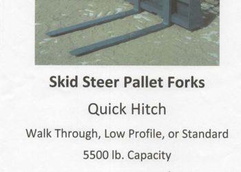 Skid Steer Pallet Forks